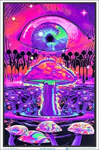 Neon Decor Mushroom Ripple Poster