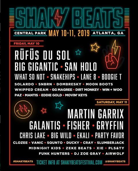 Shaky Beats Music Festival Lineup 2019