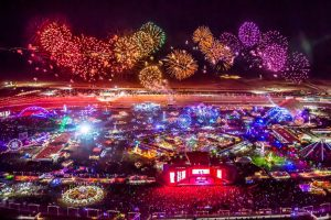 Helicopter View of EDC Las Vegas