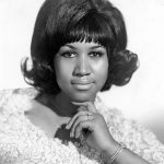 black and white photo of arethra Franklin form 1968