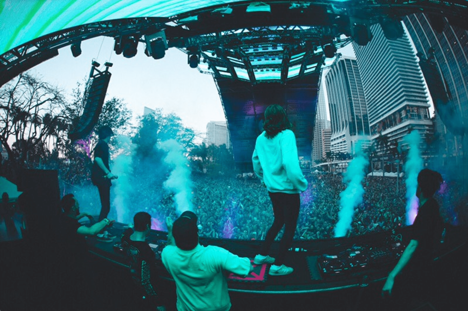 nghtmre and wavedash playing on worldwide stage at ultra miami