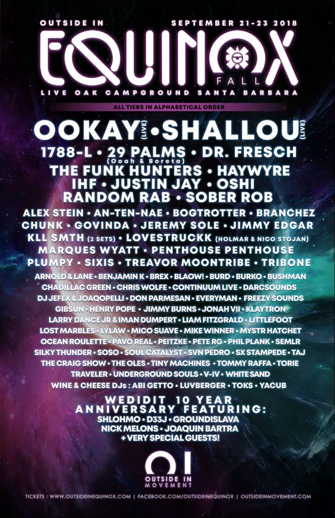 outside in equinox full 2018 festival lineup