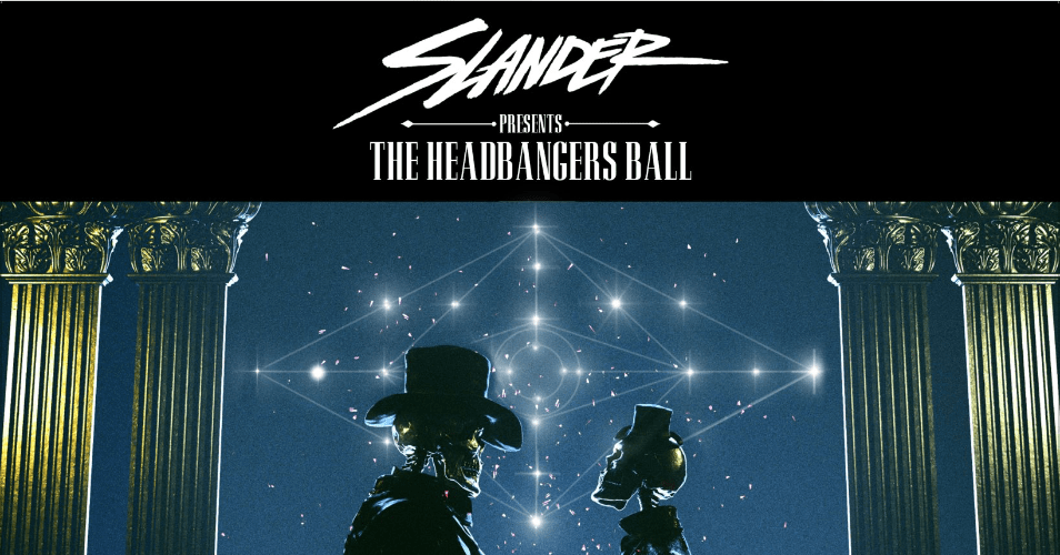 slander headbangers ball tour banner