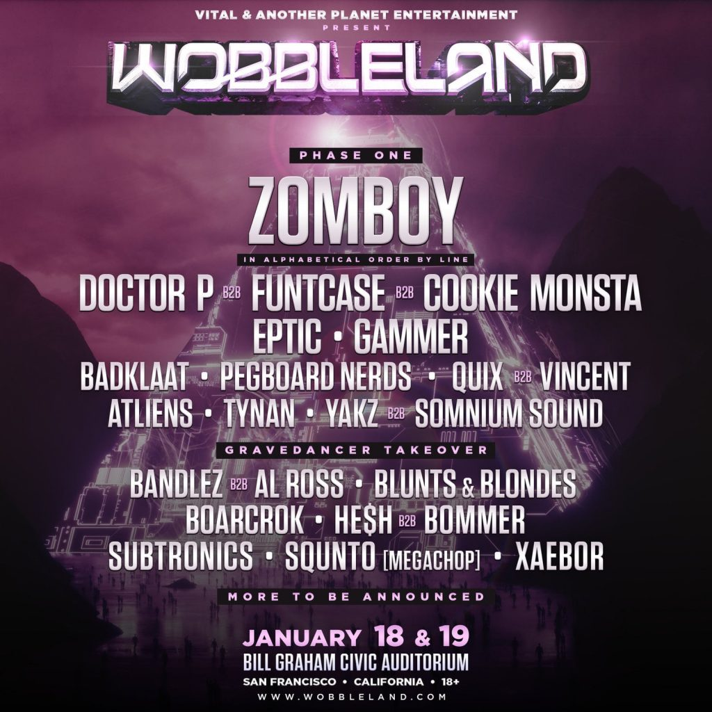 wobbleland phase one lineup 2019