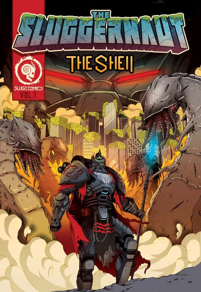 snails sluggernaut comic book the snails the shell