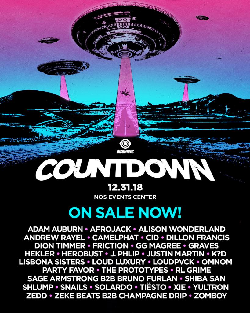 countdown 2018 lineup