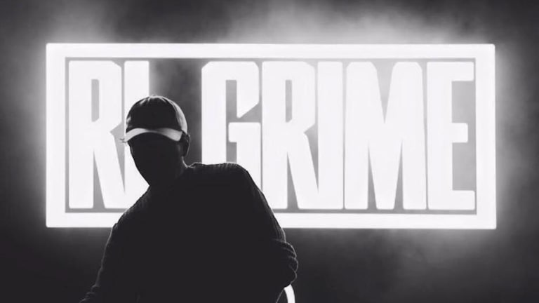 black and white photo of rl grime