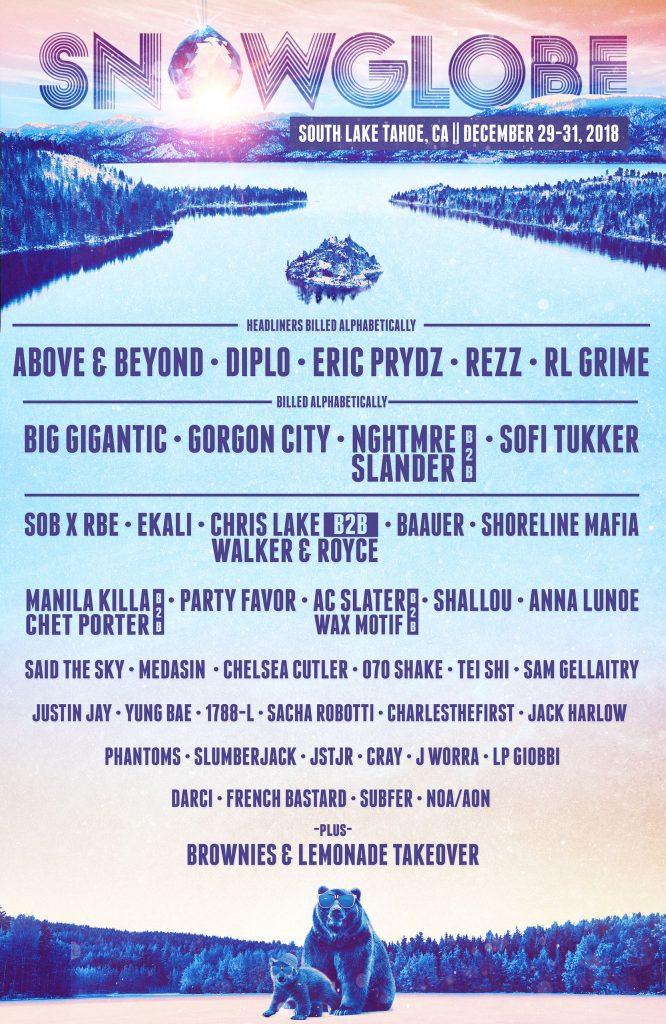 snowglobe music festival 2018 lineup