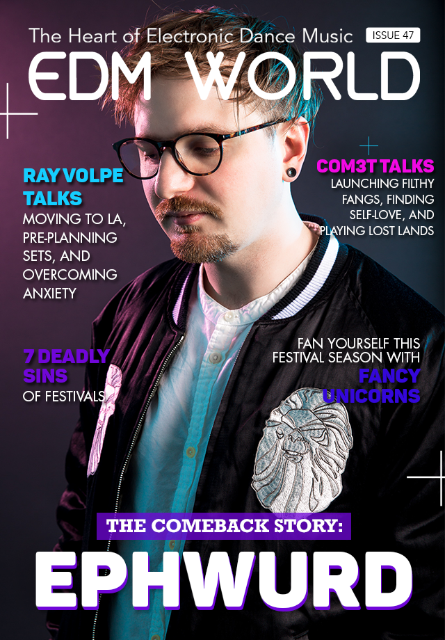 Ephwurd EDM World Magazine Cover