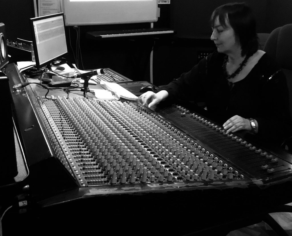 Shamanka Phoenix at the Mixing Board.