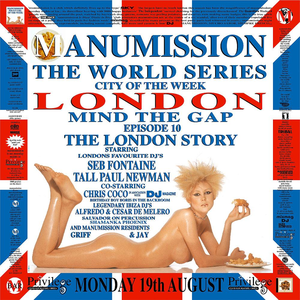 Manumission poster from 1996 World Series parties.