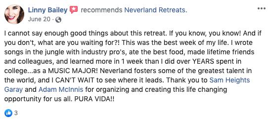 Neverland Retreats Review Linny Bailey