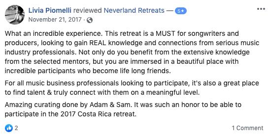 Neverland Retreats Review Livia Piomelli