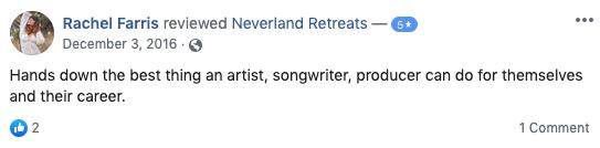 Neverland Retreats Review Rachel Farris