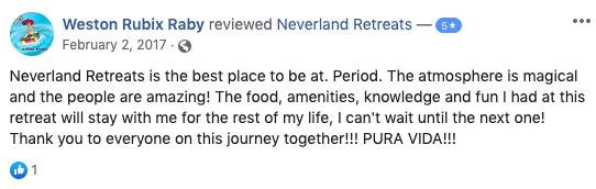 Neverland Retreats Review Weston Rubix Raby
