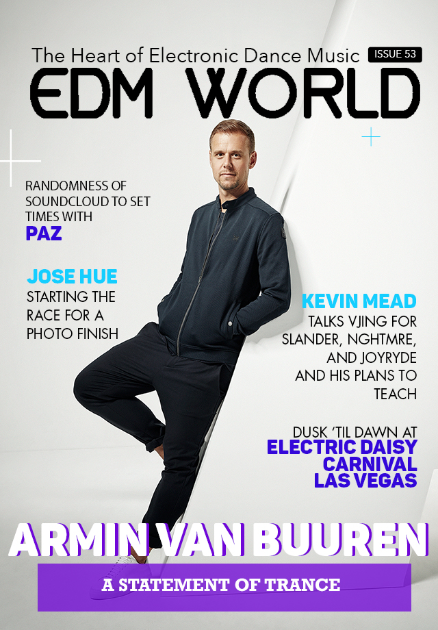 Issue 53 Armin van Buuren cover