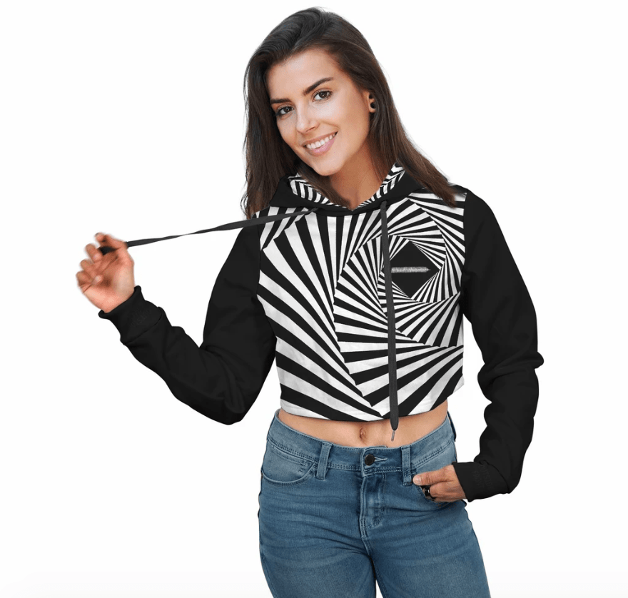 bass lover crop top hoodie edm world