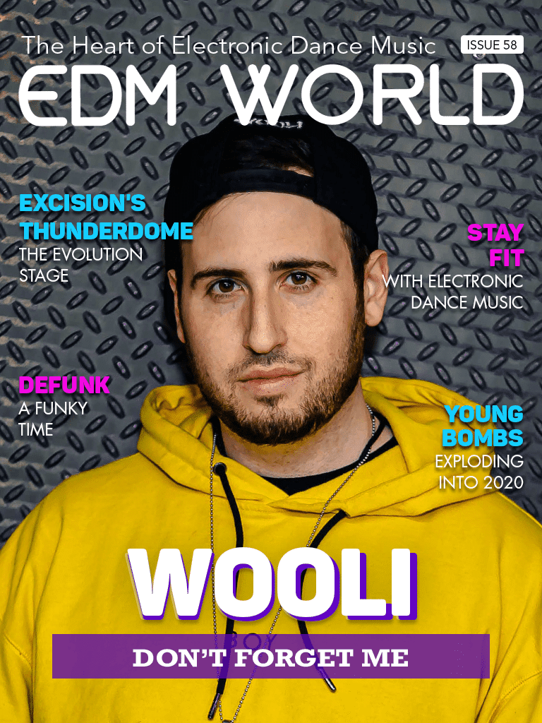 wooli edm world magazine cover