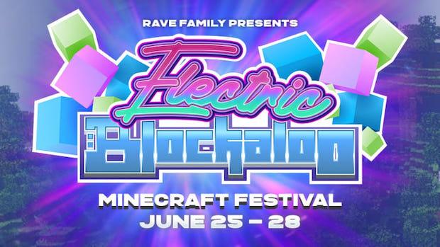 minecraft festival electric blockaloo rave family
