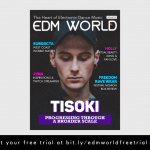 Tisokie Cover of EDM World Magazine