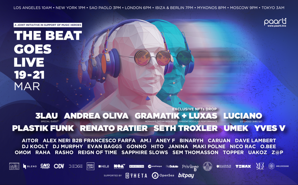 Join Paarti As They Host THE BEAT GOES LIVE