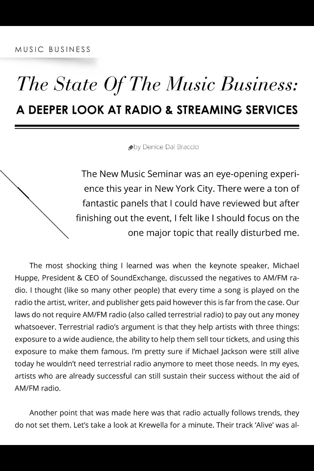 The start of the music industry issue 7 screenshot